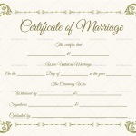 Blank Fillable Marriage Certificate Template