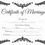 Blank Marriage Certificate Template PDF & Word