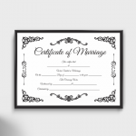 Fillable Marriage Certificate (Format 3)