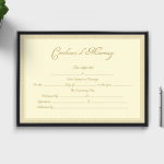 Formal-Marriage-Certificate-Template-(Brown,-Gold)