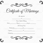 Formal Marriage Certificate Template (DOC)