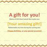 Gift Certificate Template (Colorful Border Lines) (Preview)