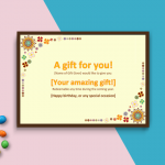 Gift Certificate Template (Word) (P-Image)