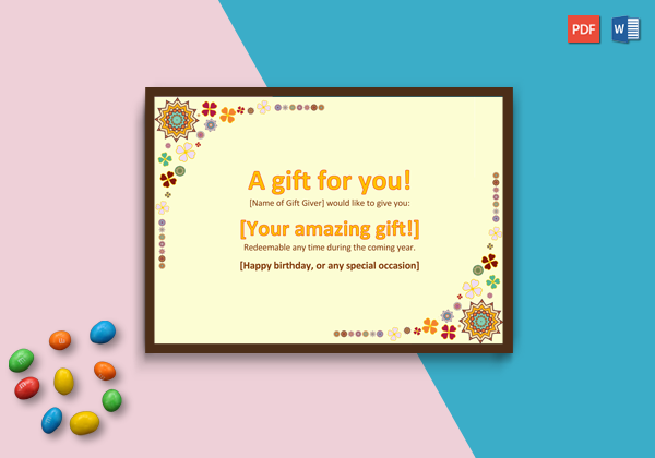 Gift Certificate Template (Word)