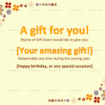 Gift Certificate Template (Word) – (Preview)
