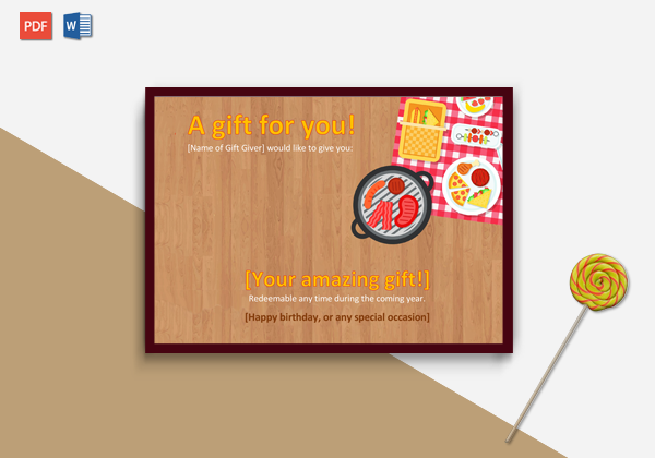 Holiday Gift Certificate Template (in Word))