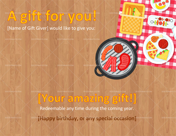 Holiday Gift Certificate Format (in Word))
