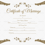 Marriage Certificate Fillable Template