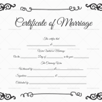 Marriage Certificate Template (Black)