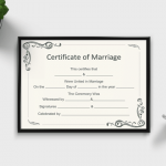 Marriage Certificate Template (Word, PDF)
