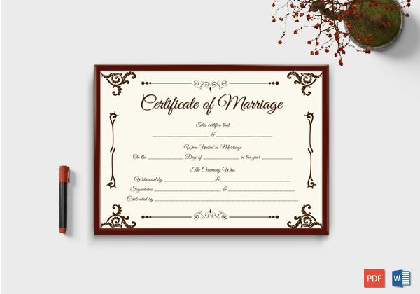 Printable Keepsake-Marriage-Certificate-Format-4