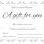Floral Gift Certificate (Word & PDF)