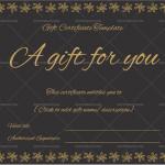 Gift-Certificate-(Flower-Border)—Black