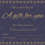 Gift-Certificate-(Flower-Border)—Royal