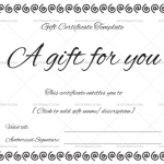 Gift Certificate (Ring Design) – White – Preview