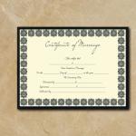Blank Marriage Certificate – Box Border – Word, PDF (Display)