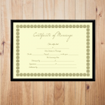 Blank Marriage Certificate Template – Small Box Design (Display)