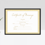 Editable Marriage Certificate – Royal Gold (Display)