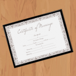 Marriage Certificate Format – Traditional (Display)