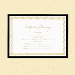 Marriage Certificate – Royal Gold (Display)