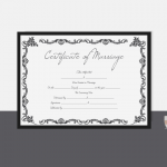 Marriage Certificate Template – Gray Design (Display)