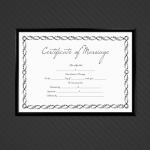 Marriage Certificate Template – Royal Silver (Display)