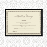 Marriage Certificate – Traditional Border (Display)
