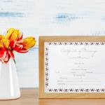 Printable Marriage Certificate – Flower Border (Display)