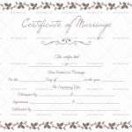 Printable Marriage Certificate – Flower Border (Preview)