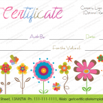 Artistic-Blossoms-Gift-Certificate-Template (Customizable Birthday Certificate)