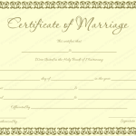 Banana-Gold-Colored-Marriage-Certificate-Template (Word)
