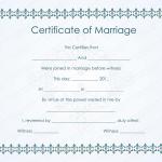 Bluish Formal Marriage Certificate Template (MS Word)