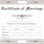 Classic Marriage Certificate Format (Word)