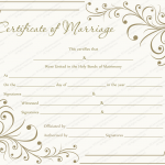 Creamy Gray Marriage Certificate Template (Word & PDF)