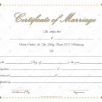 Dazzling Flowers Marriage Certificate (Word Print)