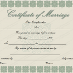 Elegant Marriage Certificate Template (Word Template)