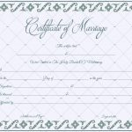 Fillable Marriage Certificate Template (Blank Word)
