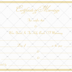 Formal Marriage Certificate Template Golden Edge (Word)