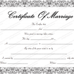 Fountain Swirls Marriage Certificate Template (Word & PDF)