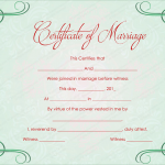 Green Grills Marriage Certificate Template (Word Design)