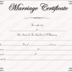 Intimacy Marriage Certificate Template (Word)