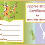 Appreciation Certificate Template (Wildlife, Editable Format)