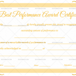 Best Performance Certificate Template (Pretty, Printable and Editable)