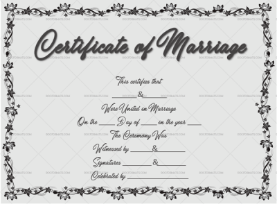 photo regarding Printable Marriage Certificates named Relationship Certification Template - Editable Patterns (in just Phrase