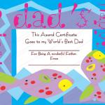 13 Award Certificate Template (Best Dad, award certificate format)