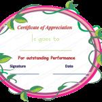 14 Appreciation Certificate Template (Eco, Printable and Editable)