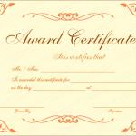 14 Award Certificate Template (Orange, modern certificate design)