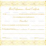 Best Performance Certificate Template (Elegant, Blank Design)