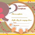 Appreciation Certificate Template (Coffee and Tea, Customizable Template)