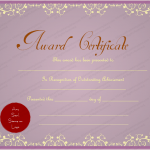 15 Award Certificate Template (Purple, modern certificate design in word format)